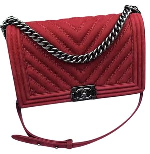 Chanel Medium Chevron Boy Shoulder Bag