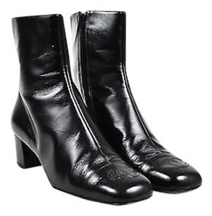 Chanel Shiny Leather Black Boots