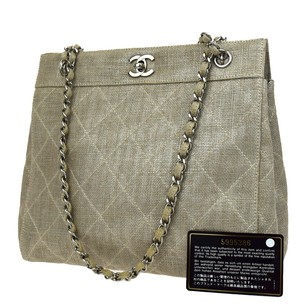 Chanel Quilted Beige Shoulder Bag