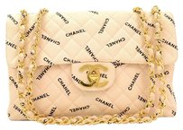 Chanel Quilted Canvas Cotton Shoulder Bag