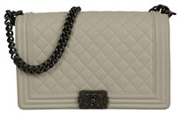 Chanel Quilted Leather Leather Hdw Boy Shoulder Bag