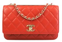 Chanel Red Woc Trendy Crossbody Shoulder Bag