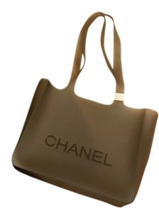 Chanel Rubber Tote in Smoked Grey