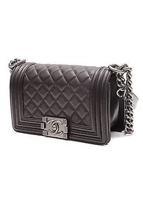 Chanel Quilted Lambskin Satchel in Black