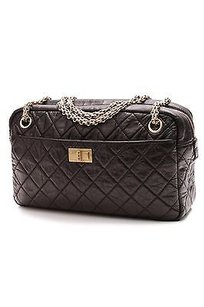 Chanel Quilted Calfskin Reissue Camera Satchel in Black