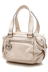 Chanel Leather Square Satchel in Ivory