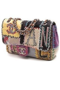 Chanel Patchwork Satchel in Multicolor