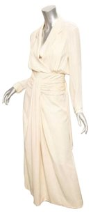 Chanel Boutique Silk Draped Sheath Blouson Maxi 446 Dress