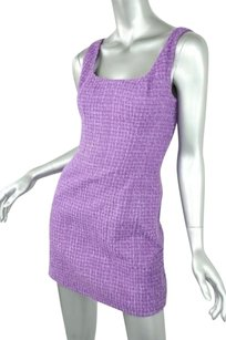 Chanel Boutique Purple Boucle Dress