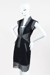 Chanel short dress Black Gray Zip Up on Tradesy