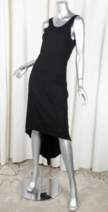 Chanel short dress Black 05p Womens Silk Sleeveless Scoopneck Asymmetrical Hem 364 on Tradesy