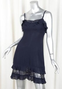 Chanel short dress Blue 95c Womens Navy on Tradesy