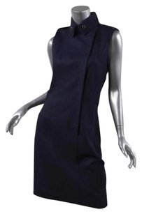 Chanel short dress Navy 09a Classic Blue on Tradesy