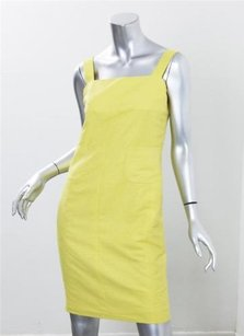 Chanel short dress Yellow Womens Silk on Tradesy