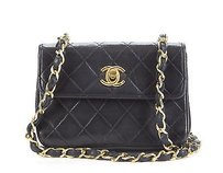 Chanel Black Lambskin Mini Shoulder Bag