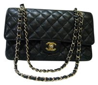 Chanel Quilted Caviar Leather Classic Double Flap Shoulder Bag