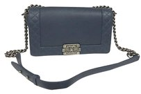 Chanel Le Boy Reverso Leather W Ruthenium Hardware New Shoulder Bag