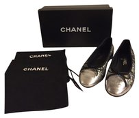 Chanel Holographic Silver Flats
