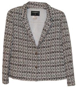 Chanel Silver Brown Creme Jacket