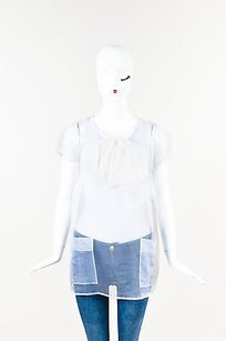 Chanel Sheer Silk Top White