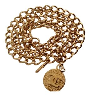 chanel CHANEL GOLD PLATED BELT / NECKLACE