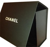 Chanel USED Chanel matte black gift box magnetic closure