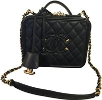 Chanel Vanity Case Filigree Vanity Box Shoulder Bag