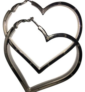 Chanel Vintage Chanel Heart Shape Hoop Pierced Earring X-Large