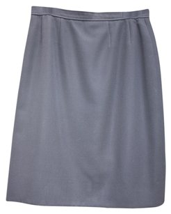 Chanel Vintage Classic Exclusive Skirt Navy Gaberdine