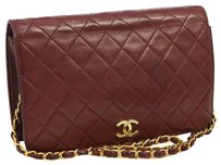 Chanel Vintage Lambskin Quilted Boredeaux Luxury Shoulder Bag