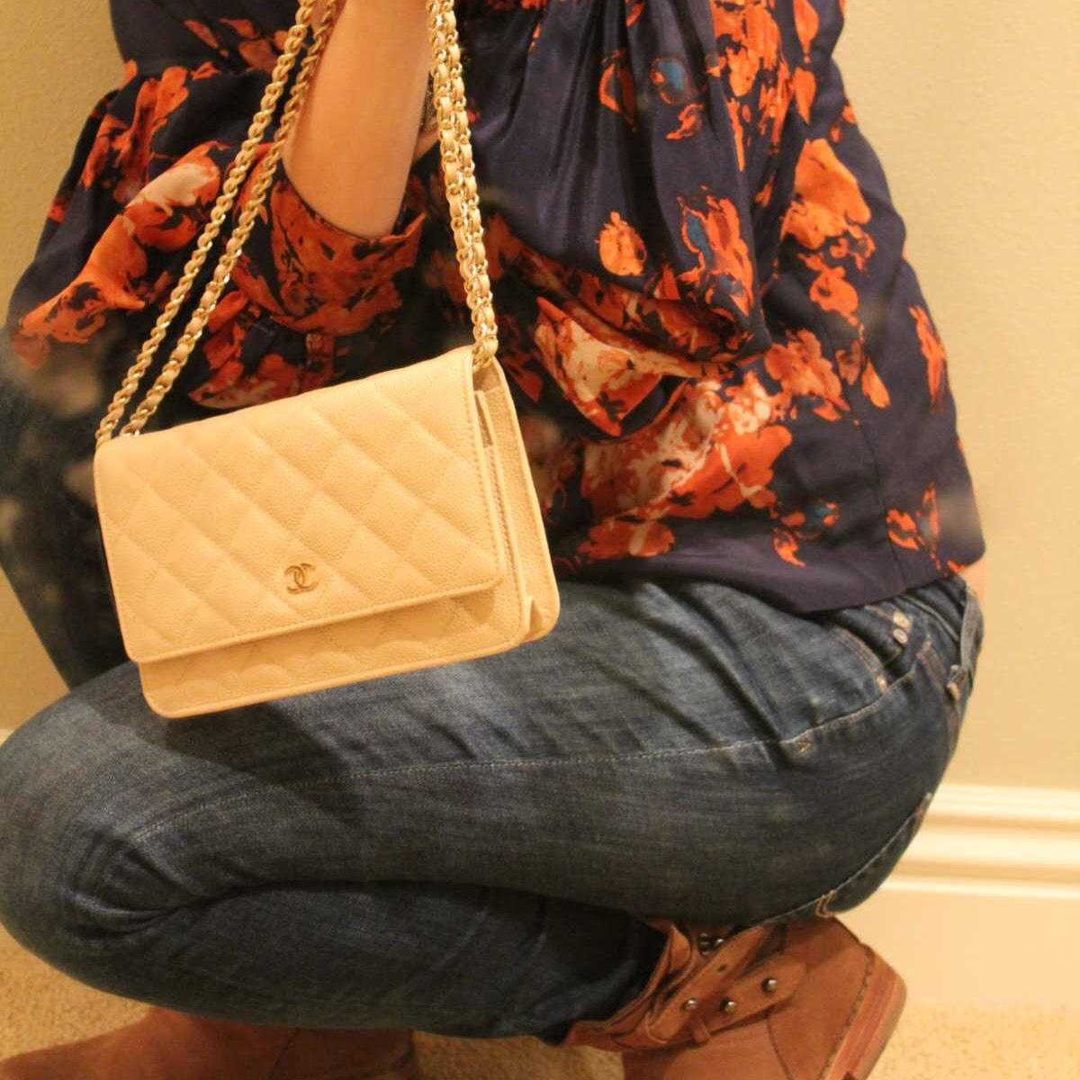 chanel wallet on chain classic quilted lambskin woc
