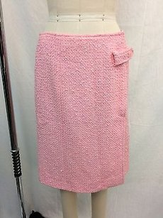 Chanel Boucle Cotton Skirt Pink