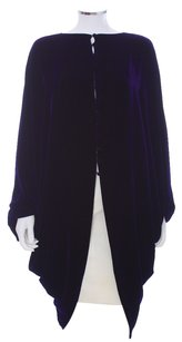 Charles and Patricia Lester Velvet Silk Royal Rayon Designer Couture Wales Nwt Evening Cape