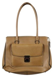 Charles Jourdan Womens Leather Handbag Satchel in Tan