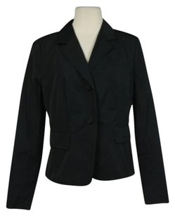 Charles Nolan Charles Nolan Womens Black Blazer Long Sleeve Career Basic Jacket