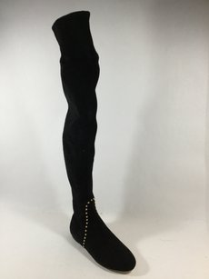 Charlotte Olympia Over The Knee Suede Black Boots