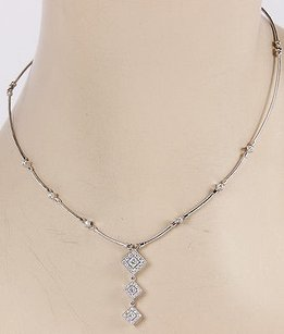 Charriol Philippe Charriol 18k White Gold Cable Diamond Pendant Necklace