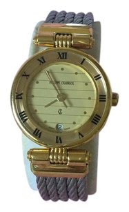Charriol SALE! Philippe 18KGP Cable Bracelets 2ToneClassicRoman Numeral Watch