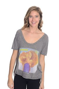 Chaser Atomic Blondie Rock T Shirt Gray