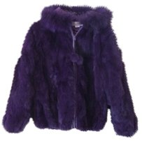 CHE-BELLA Warm Rabbit Fur Genuine Fur Coat