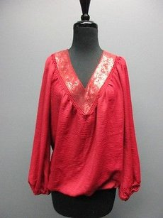 Chelsea & Violet And Long Sleeve Sequin Band Bottom Sm7822 Top Red
