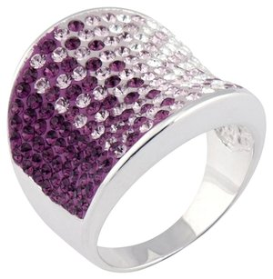 Chelsea Taylor Chelsea Taylor Swarovski Crystal Sterling Silver Ring / Size 7
