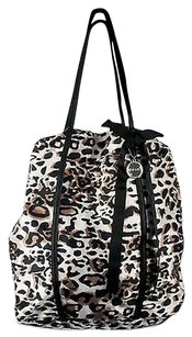 Chico's Chicos Cream Black Brown Tote in Multi-Color