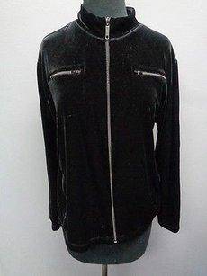 Chico's Chicos Polyester Blend Black Jacket