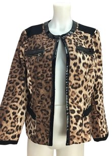 Chico's Womens Chicos And Beige Brown Jacket