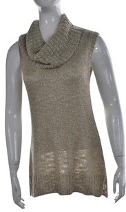 Chico's Womens Speckled Cowlneck 1 Sleeveless Casual Shirt Sweater