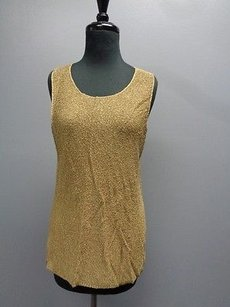 Chico's Chicos Design Golf Knit Top Gold