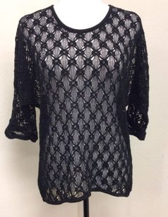 Chico's Chicos 0 Black Lacy Open Sweater