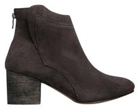Chinese Laundry Ankle Almond Toe Zipper Closure Block Heel Suede Smoke Boots