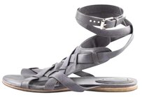 Chloé Chloe Womens Leather Gray Sandals
